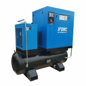 Hpdmc 230v 15hp All in one Screw Air Compressor 150psi 3phase Asme Tank 80gallon
