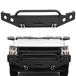 Front Black Bumper For 2007 2013 Chevy Silverado 1500 Replacement 22 515 07