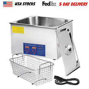 30l Ultrasonic Cleaner Basket Ultrasound Heater Timer Stainless Steel Jewelry