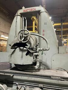 24 X 60 Mattison Surface Grinder 1973 Under Power Ready For Inspection