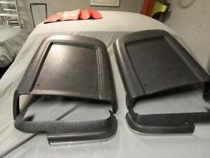 1967 Shelby Mustang Deluxe Seat Backs Side Shields Stainless Trim Set Black 67
