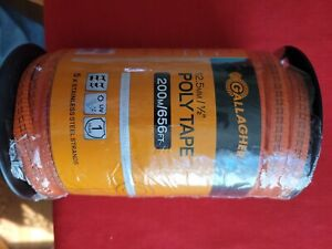 Orange Electric Fence Poly Tape no G62314 Gallagher