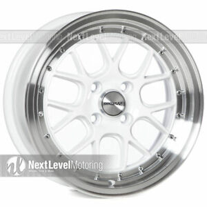 Circuit Performance Cp27 15x7 4 100 35 White Wheels Rims set Of 4 Stance