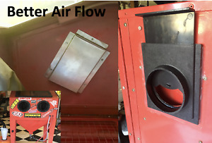 Harbor Freight Sand Blast Cabinet Air Flow Upgrades 1 Baffle 1 Blast Gate