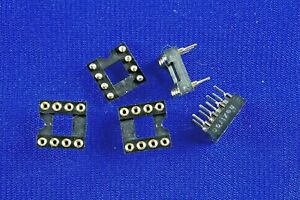 5pcs Dip 8 Ic Sockets Machined With Gold Plated Pins Very High Quality New