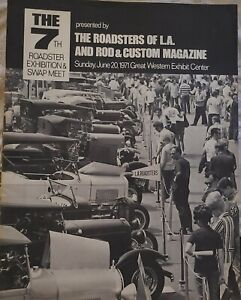 1971 7th Annual L a Roadster Rod Custom Official Program 32 Ford