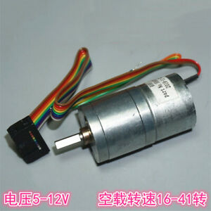 25mm Dc 5v 12v 41rpm Slow Speed Mini 310 Full Metal Gear Motor Large Torque Car