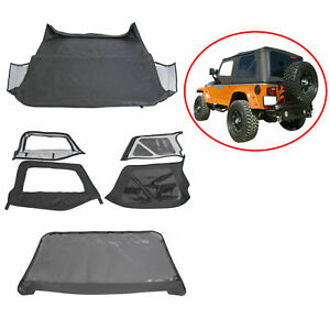 6pcs For 1997 2006 Jeep Wrangler Premium Replacement Soft Top Upper Skins