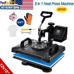 Heat Press Swing Away Printing Sublimation Maker For T shirt Hat Cap Mug Plate