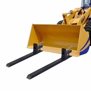 Durable 4000 Lbs Capacity Clamp On Pallet Forks Skidsteer Tractor Chain