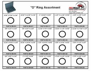 O ring Assortment Small Sizes In Large Metal Locking Tray