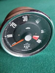 Smiths Jaeger Tachometer Gauge 4 Cyl Positive Earth rvi2404 00a Made In Uk