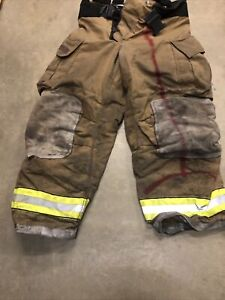 Mfg 2008 Globe Gxtreme 40 X 30 Firefighter Turnout Bunker Pants Suspenders