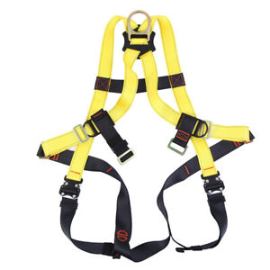 Safety Body Harness Fall Protection Lanyard Construction Roofing Combo 2500kg