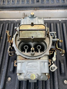 Holley Carburetor 750 Double Pumper Used Manuel Choke Like New 200 Miles Of Use