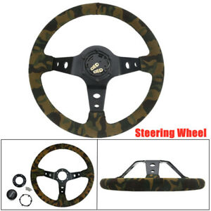 14 350mm Racing Car Camouflage Steering Wheel Universal Colorful Decoration