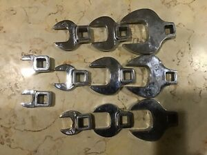 11 Pc 3 8 Drive Sae Open End Crowfood Wrench Set 3 8 1