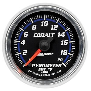 Autometer 6145 Cobalt Electric Pyrometer Gauge Kit
