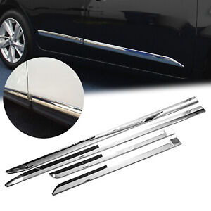 For Nissan Altima 2013 2018 Abs Chrome Side Door Body Molding Cover Trims 4pcs