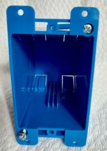 Carlon B120r Blue Non metallic Adjustable 1 gang Deep Outlet Box 3 5 8 In