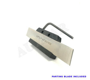 Lathe Clamp Type Parting Cut Off Tool Holder 1 2 Shank With Hss Blade 1 X 6