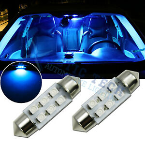 8000k Ice Blue 36mm 6 Smd Led Lamps Interior Dome Map License Plate Lights Bulbs