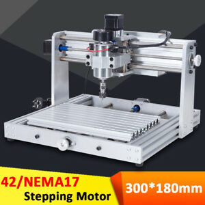 300w Cnc Diy Router Kit Wood Engraving Carving Pcb 3 Axis Mini Machine