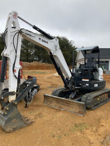 2019 Bobcat Compact Excavator E50 Long Arm 24 Tooth Loader Bucket Hydraul Clamp