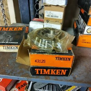 New Timken 43125 Tapered Roller Bearing Cone