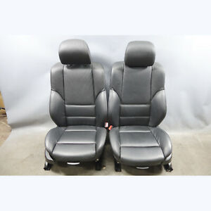 1999 2006 Bmw E46 3 Series Factory Front Sports Seat Pair Black Leather Oem