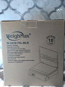 Weighmax W 2822 Black Postal Shipping Scale Capacity 75 Pounds
