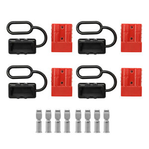50a Battery Quick Connect Wire Harness Plug Disconnect Winch Connector Kit Us