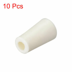 Beige Drilled Silicone Stoppers Plug For Flask Test Tubes Stopper