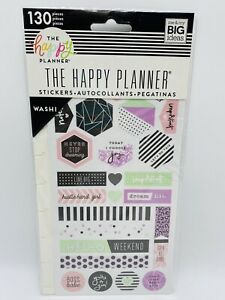 Happy Planner Boss Babe Washi Stickers 130 Pieces Pink Green Black Purple 2018