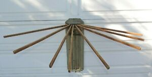Antique Wall Mount Wood Drying Rack