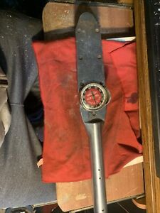 Vintage Snap on Te 602 3 4 Drive 600 Ft Lb Dial Torque Wrench