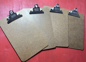 Lot Of 4 Staples Recycled Hardboard Clipboard Brown 9 X 9 31758 us read