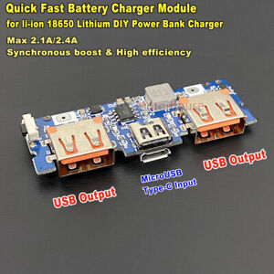 Type c Micro Usb 3 7v Lithium Li ion Battery Fast Charging Board Charger Module