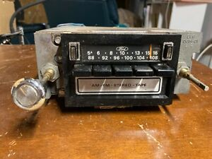 1970 s Vintage Ford Am fm 8 Track Stereo Radio