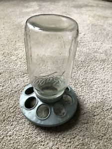 Vintage Metal Base Bell Chicken Waterer
