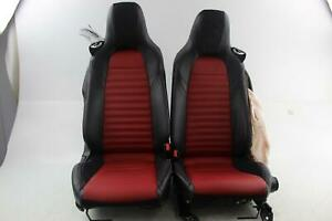 2018 Fiat 124 Spider Abarth front Seat Pair set Lh Rh Leather W bose Speakers