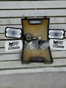 Nos Marchal 750 Fog Lights Set W Covers Boxed 1982 And 84 86 Mustang Gt And Svo