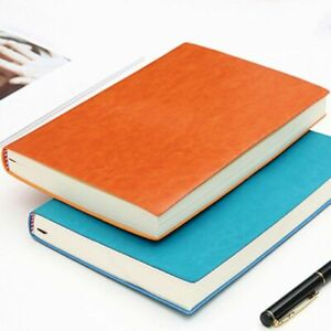 Thick Business Leather Journal Notebook Soft Paper Diary Notepad Office School