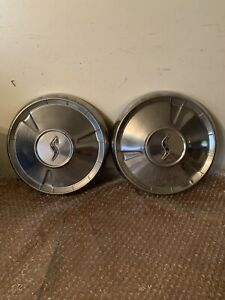 A Set Of 2 1960 Studebaker Lark 10 Hubcaps Wheel Covers Free Shipping