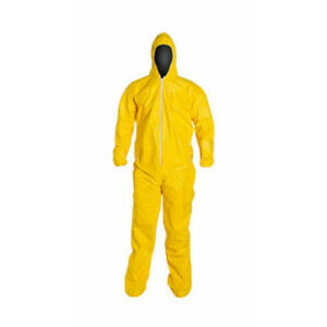 Dupont Tychem 2000 Coverall With Hood And Booties Qc122s M L Xl 2x 3x 4x 5x