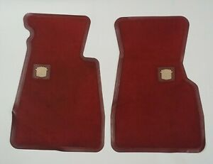79 85 Cadillac Eldorado Red Factory Carpet Front Floor Mats Used Original e27
