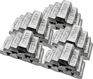 Lot Of 25 Pounds Bullet Casting Metal Lead Ingots Fishing Weights Sinkers $59.95