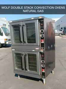 Wolf Double Stack Convection Ovens Natural Gas