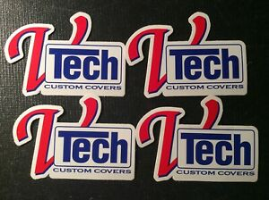 Lot Of 4 Vtech Custom Covers New Old Stock Decals Stickers