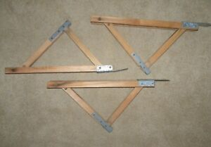 Lot 3 Wooden Adjustable Roofing Scaffold Brackets